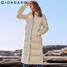 Hooded 90Goose Women Detachable Jackets Down Down Giordano Yyvf67gb