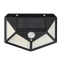 100 LED Solar Power PIR Motion Sensor Wasserdichte Wand Licht Outdoor Garten Lampe Dekoration Veranda Lichter Weiß/Warm Weiß licht