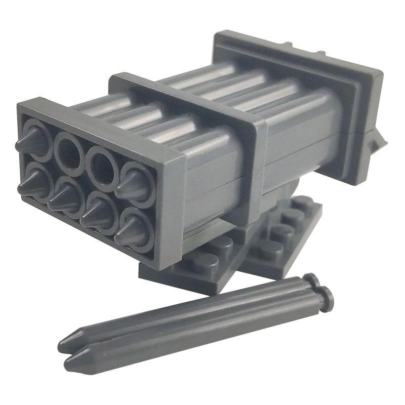 Военные строительные блоки, пушки, орудия, модель пули, детские игрушки «сделай сам» для детей, WW2 SWAT Creator City, милитари, оружие