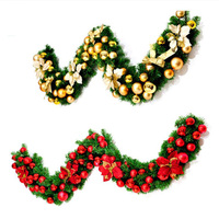 2.7m Christmas Rattan Decor Tree Hanging Ornaments PVC LED Garland Gifts Xmas Party New Year Hotel Decor Home Window Supplies
