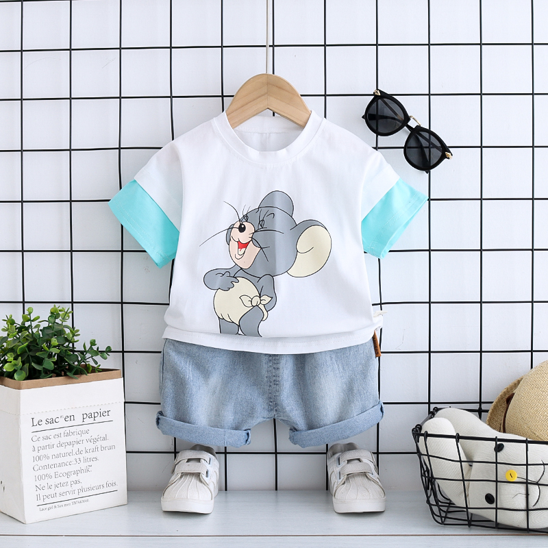 Baby Infant Boys Girls Spring Outfits for 1-5 Years Old Kids Cartoon Dinosaur Print Tops+Pants Clothes Set