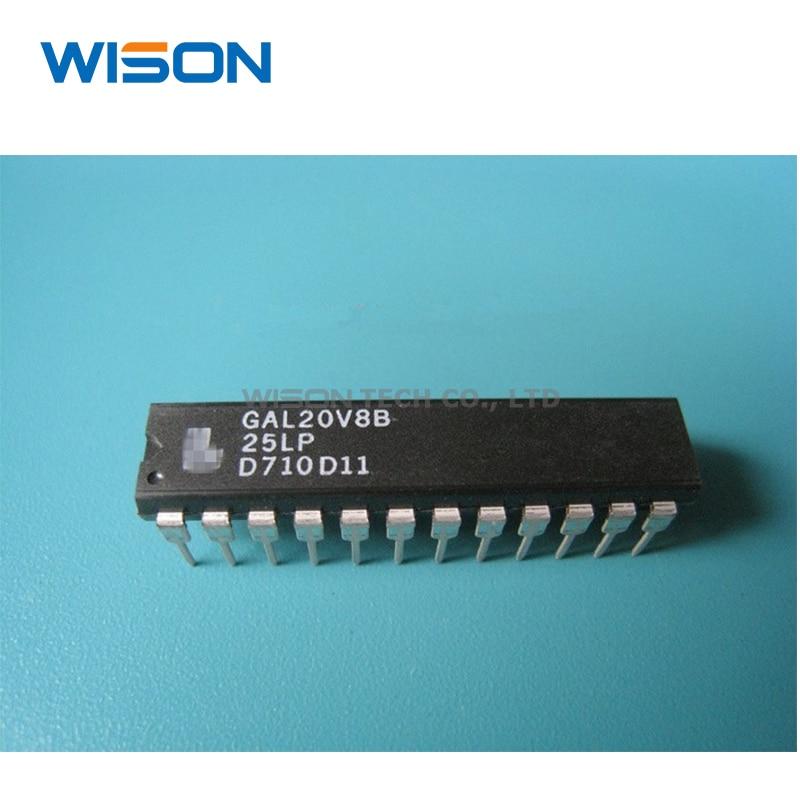 10pcs/lot GAL20V8B-25LP GAL20V8 DIP-24