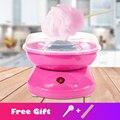 Электрический DIY Sweet cotton candy maker портативный хлопок сахар нить машина девочка мальчик подарок детский день с бесплатной палочки и ложка сахар...