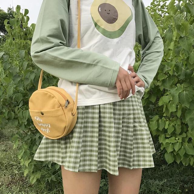 Round Canvas Women Brand Shoulder Bags Cross Body Bag Casual Phone Pouch Small Womans Bags Brand Designers Tas Wanita Slempang