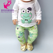 Doll Clothes for 43cm Reborn Baby Boy Green Frog 40cm 38cm Set