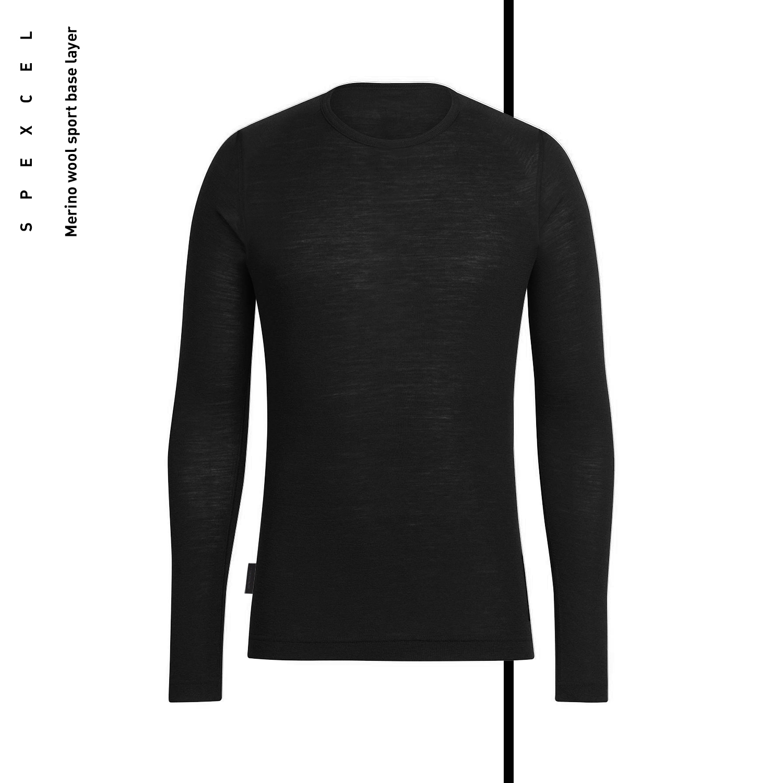 SPEXCEL laine mérinos sport couche de base hiver plus chaud route vtt sous-vêtements de cyclisme