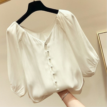 Chiffon Shirt Female 2019 New Foreign Small Short-sleeved Blouse Casual