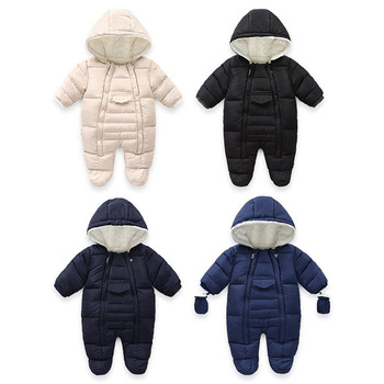 Baby Snowsuit Thick Newborn Baby Romper Baby Boy Romper Warm Baby Winter Clothes Infant Boy Romper Baby Outerwear Jumpsuit фото
