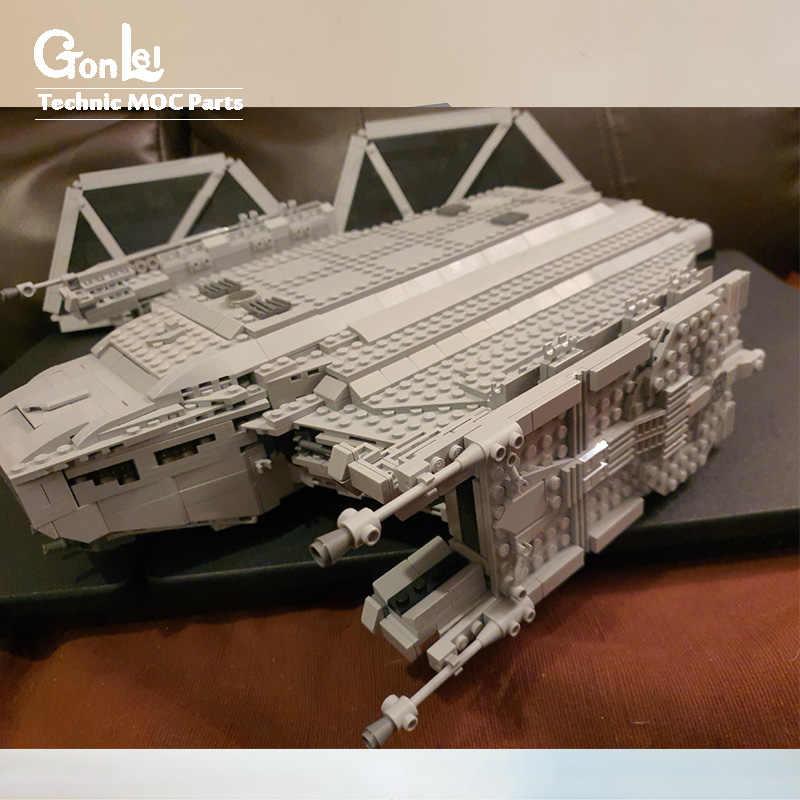 Новый Звездные войны, MOC-35928, галстук, эшелон, космический корабль, боевой корабль, Штурмовой шаттл, Моз, строительный блок, сборка, сделай сам, игрушка, подарок на день рождения для мальчика
