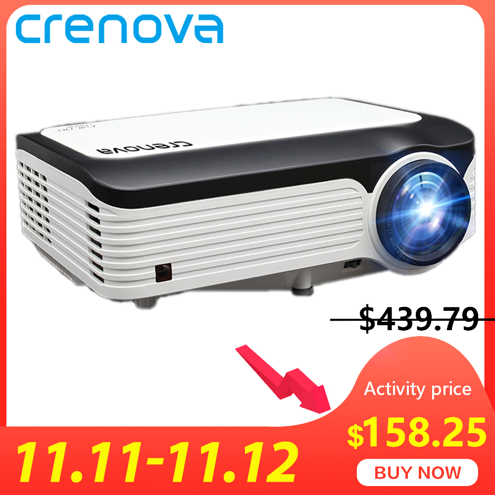 CRENOVA Newest Video Projector With Full HD 1080p Native Resolution For Home Cinema Movie Android Projector With Android 7.1.2-in LCD Projectors from Consumer Electronics
