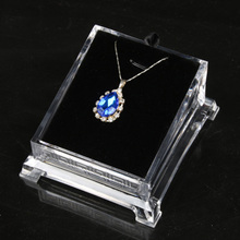 Acrylic Necklace Pendant Earring Fashion Clear Vertical Jewelry Display Stand Jewelry Packaging