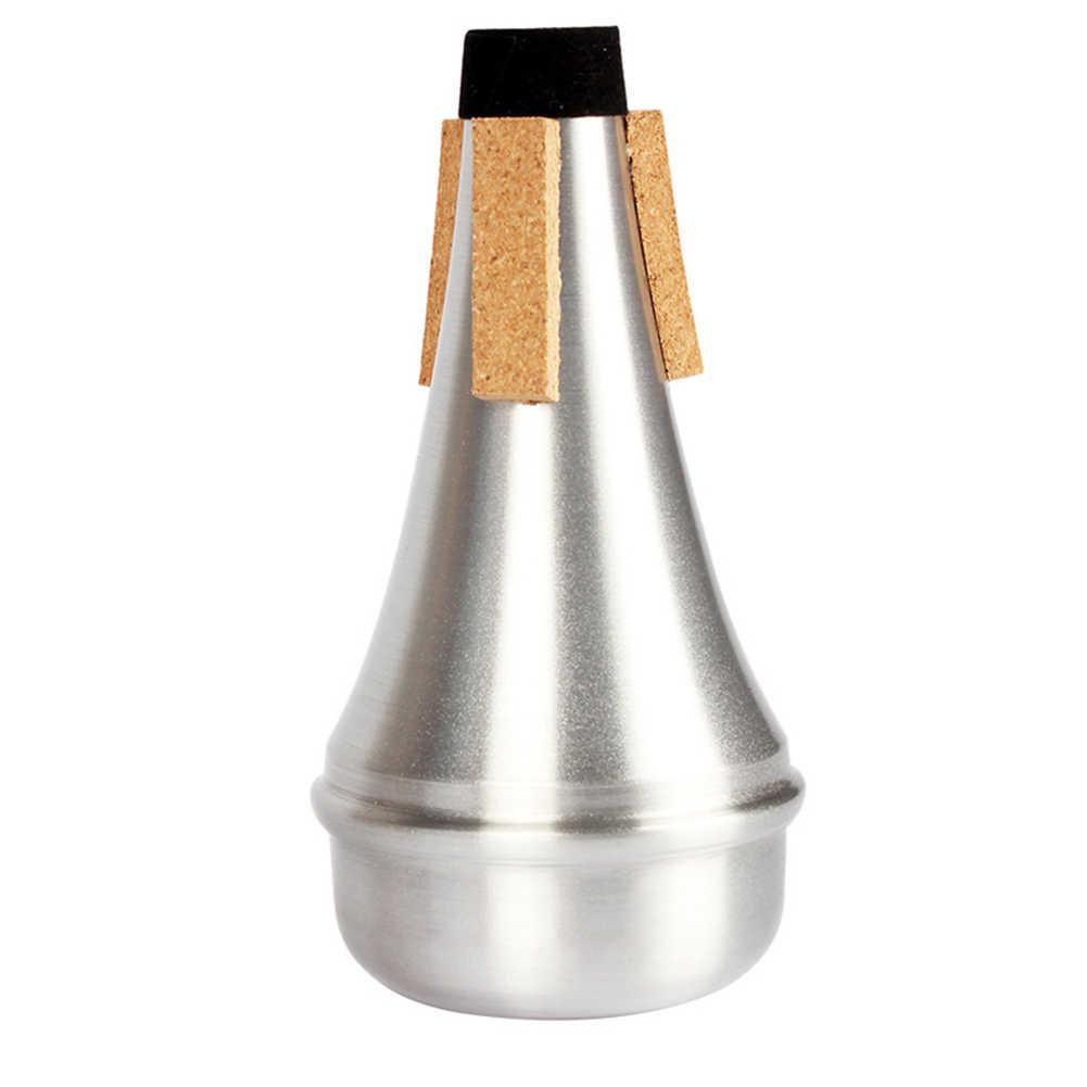 Baru Terompet Bisu Aluminium Paduan Aksesoris Musik Instrumen untuk Pemula Praktek BN99