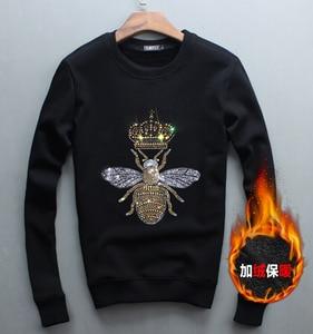 Image 1 - Männer Hoodie 2019 Frühling Herbst Neue Heiße Verkauf Neue Streetwear Sweatshirts Baumwolle Männer Hoodies Diamant design Pullover