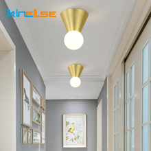Nordic Minimalism E27 Ceiling Lamp LED Indoor Surface Mounted Light Art Bedroom Aisle Stair Balcony Decor Ceiling Wall Lighting