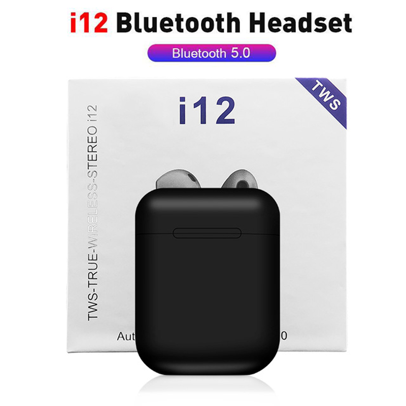 I12 TWS Wireless Earphones Mini Earbuds Bluetooth 5.0 Stereo Sport Earpieces For IPhone Android Phone I12 Tws Handsfree Headset