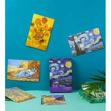 30pcs Classic Van Gogh Oil Painting Postcard Writable Retro Journal Memo Scrapbook Greeting Card Wall Decoration Stationery Gift