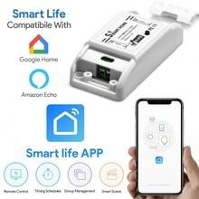 Interruptor de controle remoto elétrico, sem fio 90 250vac wifi smart home switch sonoff tuya smart life app google alexa energy