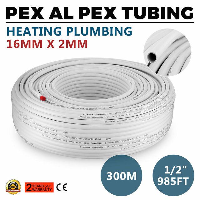 "VEVOR 1/2"" 300M Pex Al Pex Tubing Pipe Radiant Heat Heating 16X2Mm Radiant Floor"