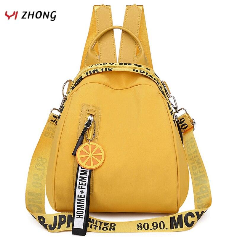 YIZHONG Nylon Multifunction Mini Backpack for Women Small Travel Backpack Purse Female School Bags for Teenage Girls Mochila