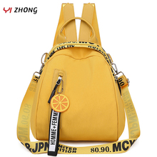YIZHONG Nylon Multifunction Mini Backpack for Women Small Travel Backpack Purse Female School Bags for Teenage Girls Mochila