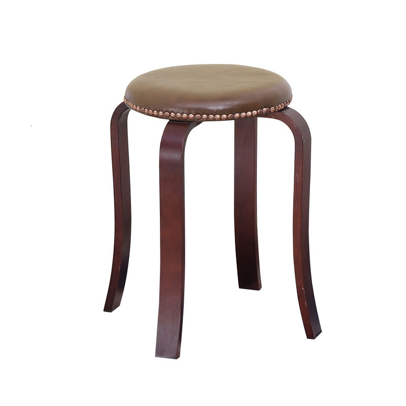 Northern Europe Wind Song Wooden Bench You Table Stool Small Circle Stool Solid Wood The Bench Household Adult Wooden Bench