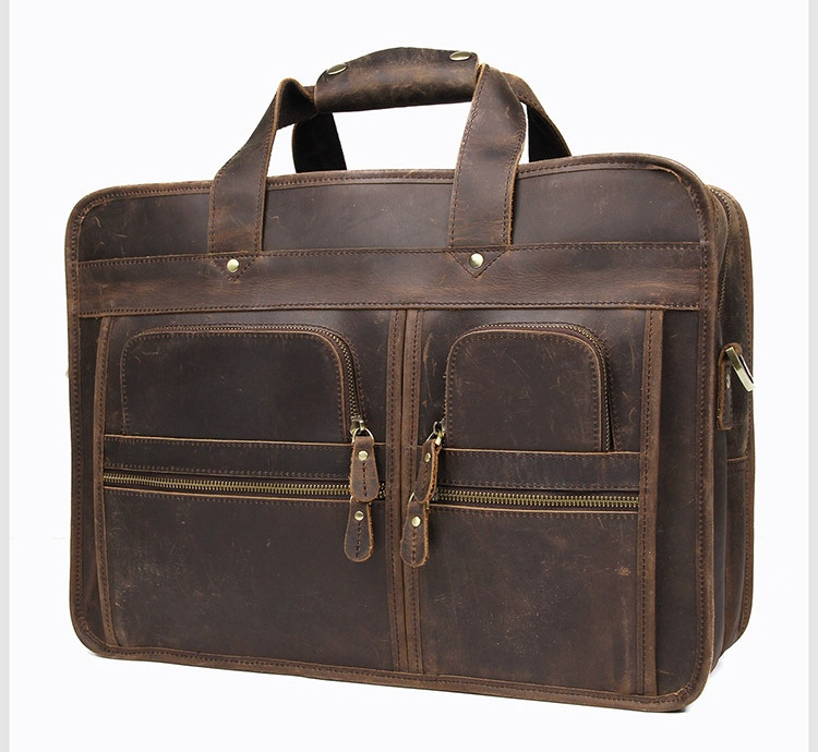 Hc0d17b4218934cf7ae86a05d7582613fC MAHEU Vintage Leather Mens Briefcase With Pockets Cowhide Bag On Business Suitcase Crazy Horse Leather Laptop Bags 2019 Design