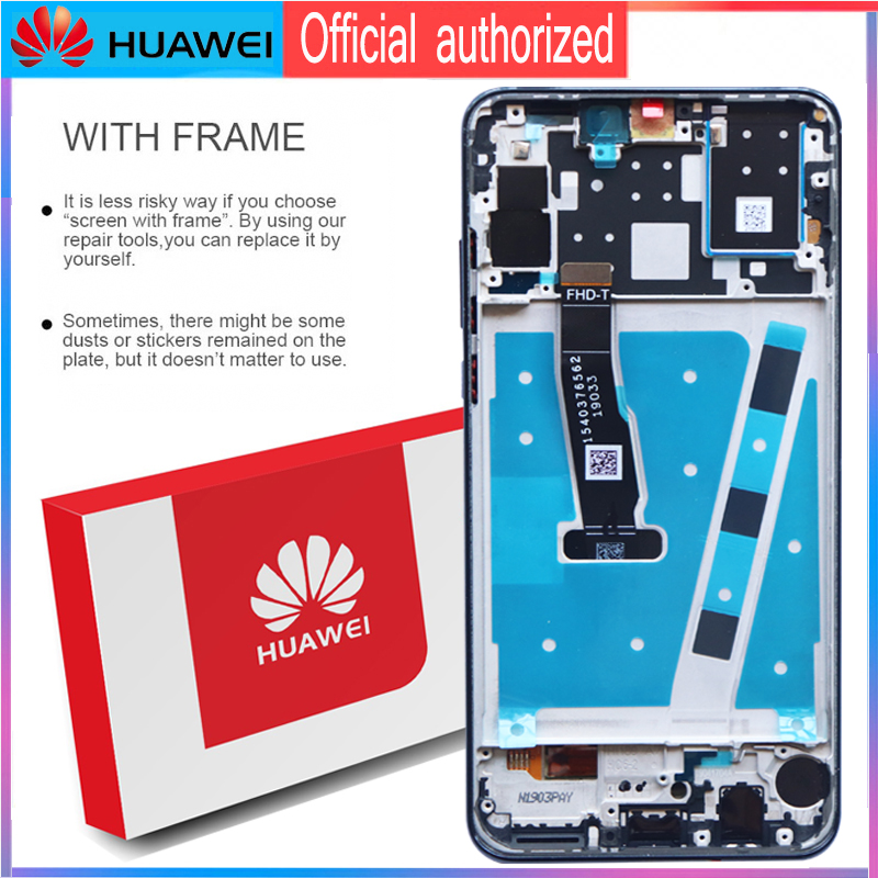 Image 2 - Original 6.15 Display with frame Replacement for Huawei P30 Lite Nova 4e LCD Touch Screen Digitizer Assembly MAR LX1 LX2 AL01-in Mobile Phone LCD Screens from Cellphones & Telecommunications on