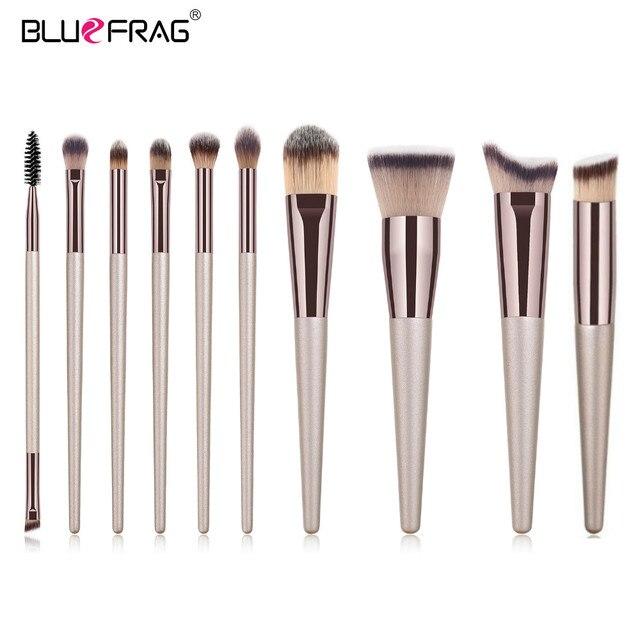BLUEFRAG 5-14pcs Makeup Brush Set Cosmetic Foundation Powder Blush Eye Shadow Lip Blend Make Up Brushes Tool Kit Maquiagem 3