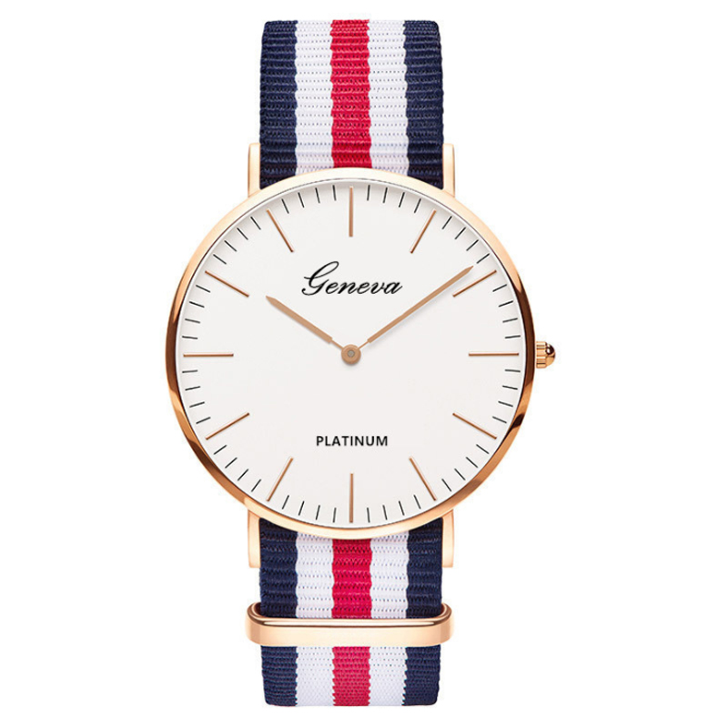 Popular Luxury Brand High Quality Nylon Fashion Simple Men's Bracelet Quartz Watch Luxury Men's And Women's Watches