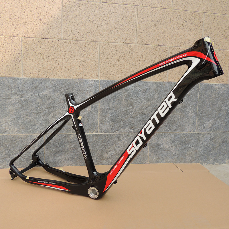 26er SYT Carbon Bike Frame Super Light 15in MTB Carbon Bicycle Frame For Disc Brake