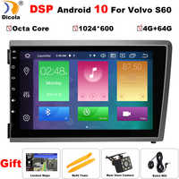 Radio multimedia con GPS para coche, radio con reproductor DVD, Android 10, 8 pulgadas, HD, IPS, DSP, para Volvo S60, V70, XC70, 2000, 2001, 2002, 2003, 2004