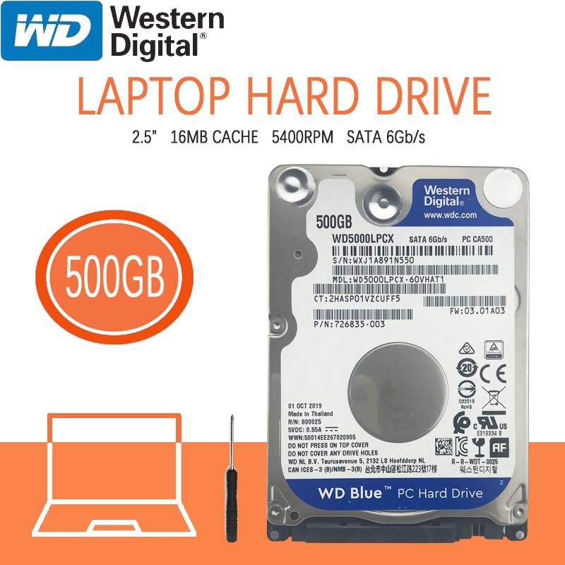 Жесткий диск WD 500 Гб для ноутбука, 5400 об/мин, 2,5 дюйма, внутренний жесткий диск HD, SATA III, 16 Мб кэш, 7 мм для игрового дома, PS4, ноутбука