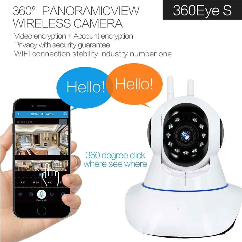 1080 720p パン/チルトパノラマワイヤレス無線 Lan IP カメラスマートセキュリティカメラペット、長老、ベビーモニター、 2 ウェイオーディオ、モーション検出