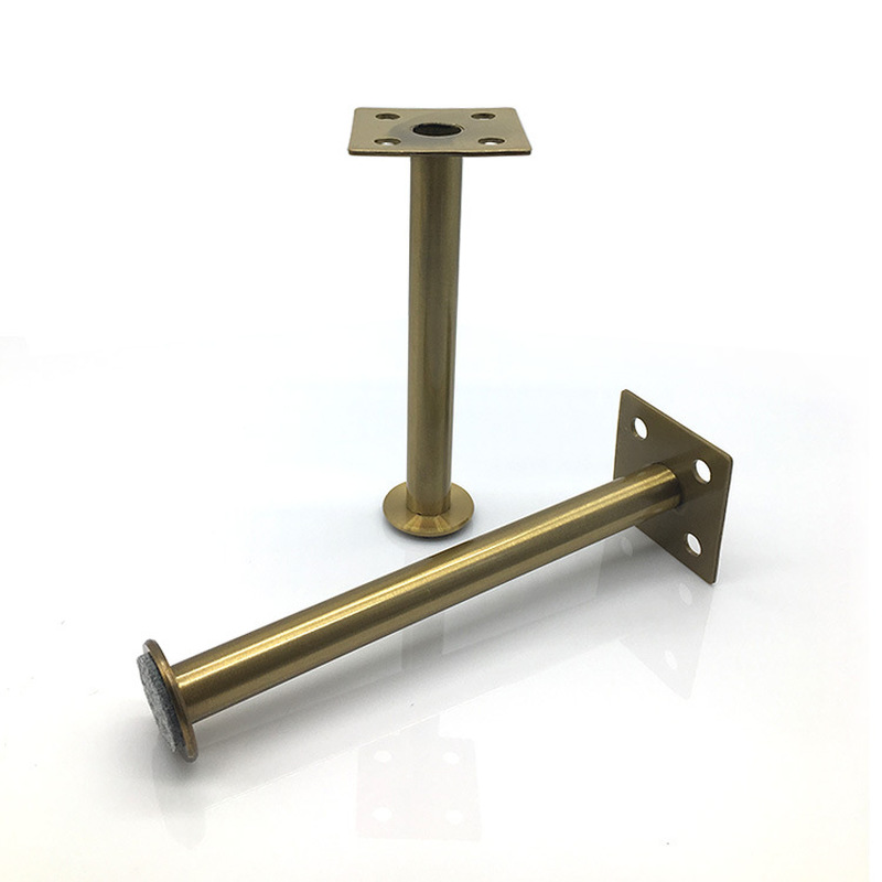 Adjustable Gold Furniture Legs Steel Non-slip Support Foot Leveling Feet For Sofa Table Bed TV Cabinet Hardware Replacement Part