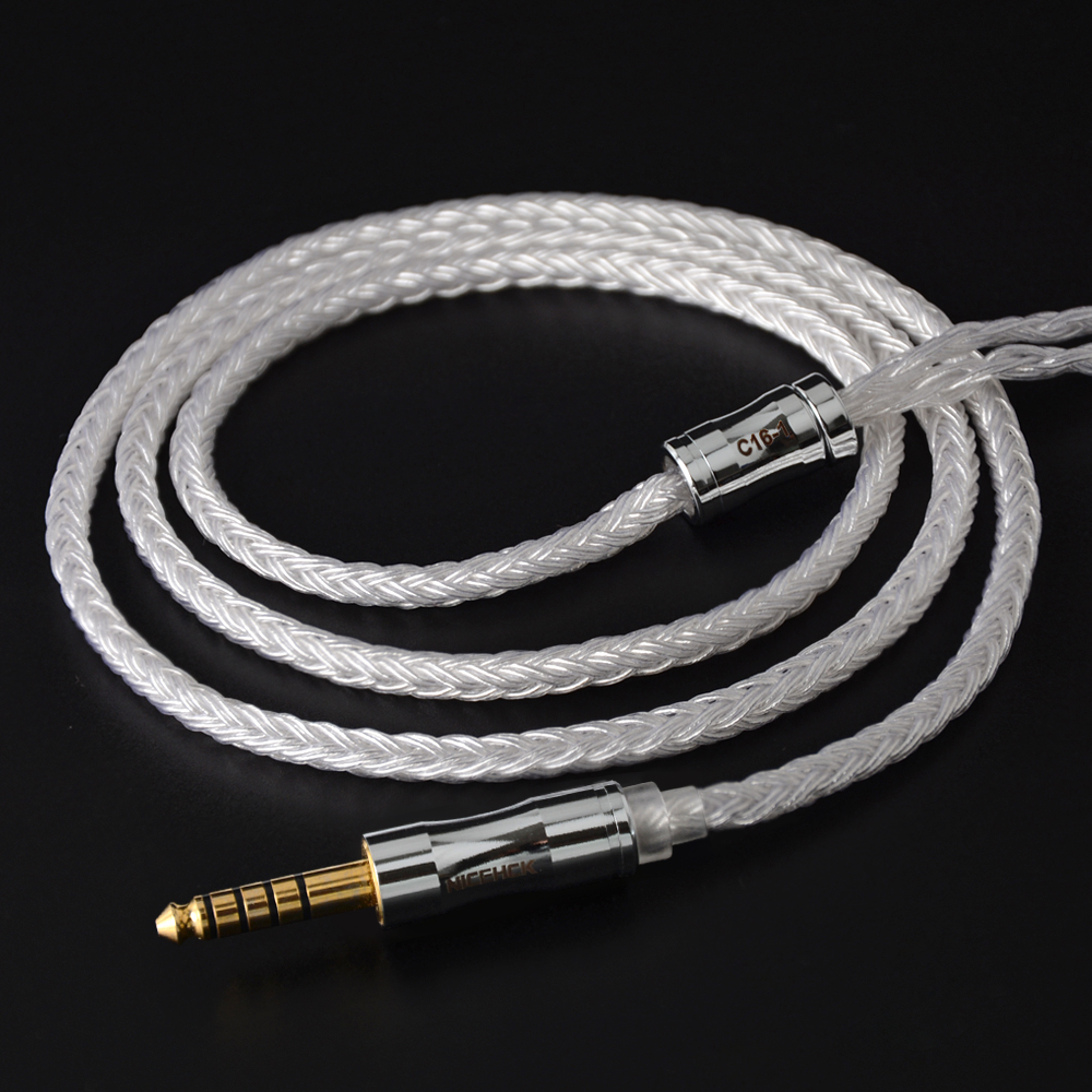 2019 NICEHCK C16-1 16 Cores Silver Plated Cable 3.5/2.5/4.4mm Plug MMCX/2Pin/QDC/NX7 Connector For QDC TFZ KZCCA TRN NICEHCK NX7 broad paracord