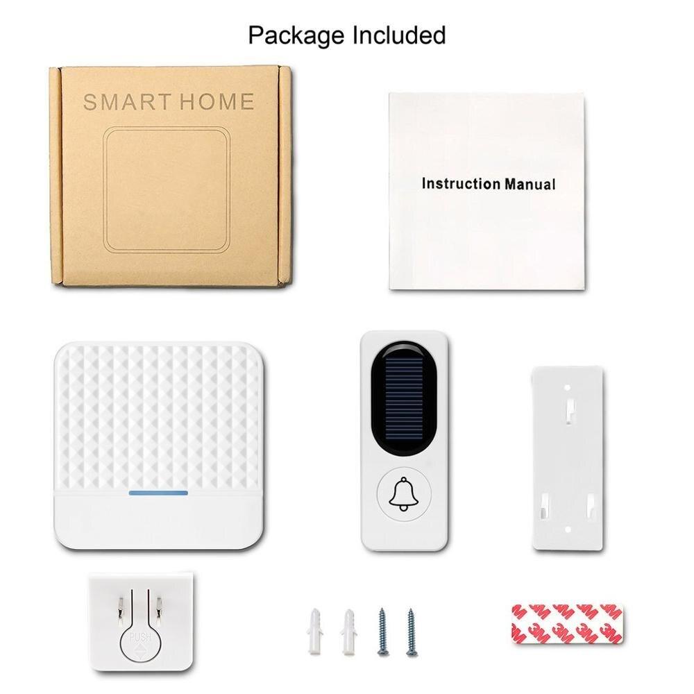 For F9 Solar Wireless Doorbell Intelligent Light Sensor One For One Door Bell One For Two Wireless Doorbell