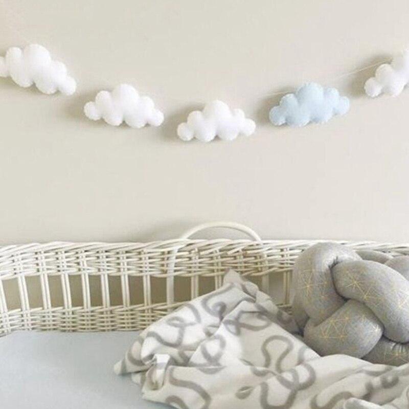 Скандинавский стиль, детская комната, Декор, навес для детской кроватки, декор в виде облака, Декор для дома, гирлянда, реквизит для фотосъемки, Настенное подвесное украшение