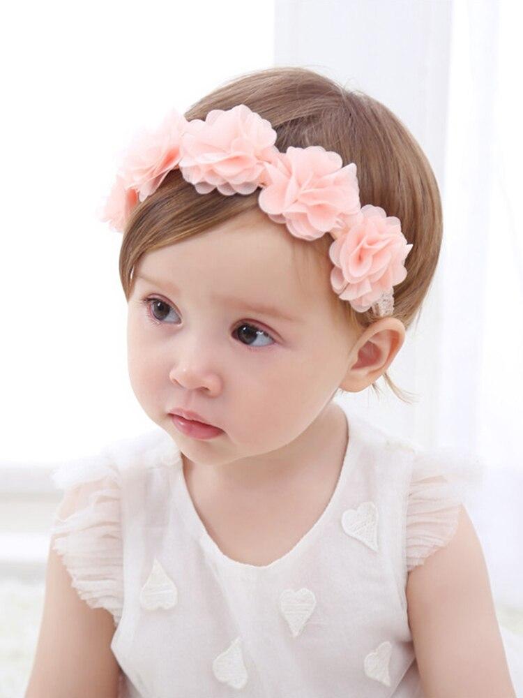 Baby Headband Turban Bows Flower-Girls Toddler Newborn for Kids Hair-Accessories