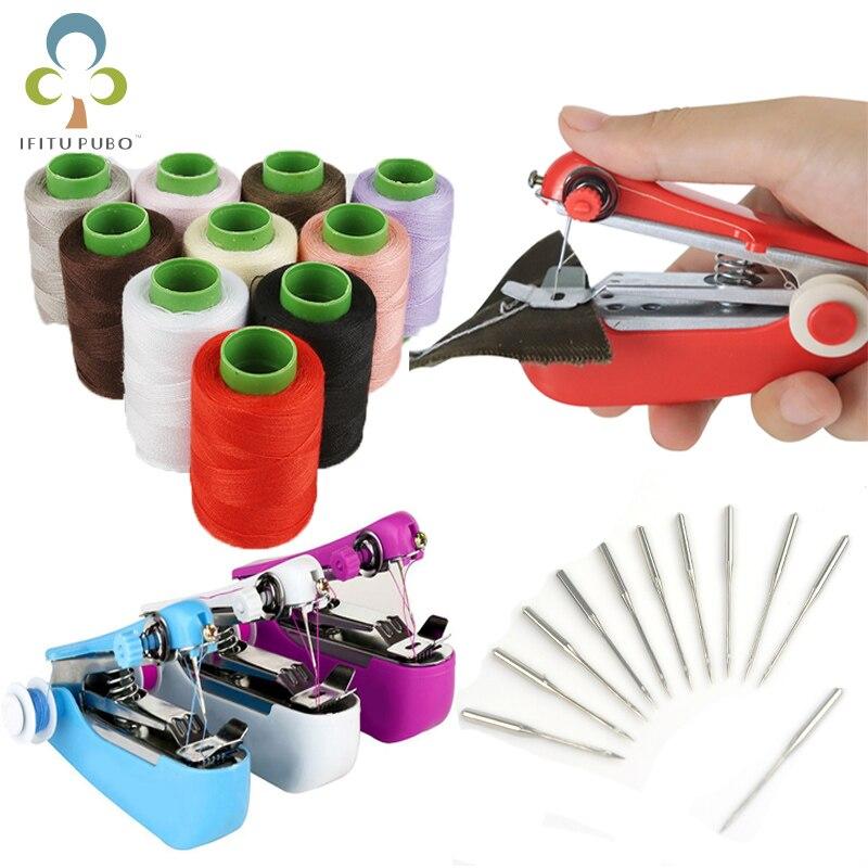 1 комплект, портативная ручная швейная машина, простая в эксплуатации, швейная игла, запасной швейный инструмент для рукоделия ZXH