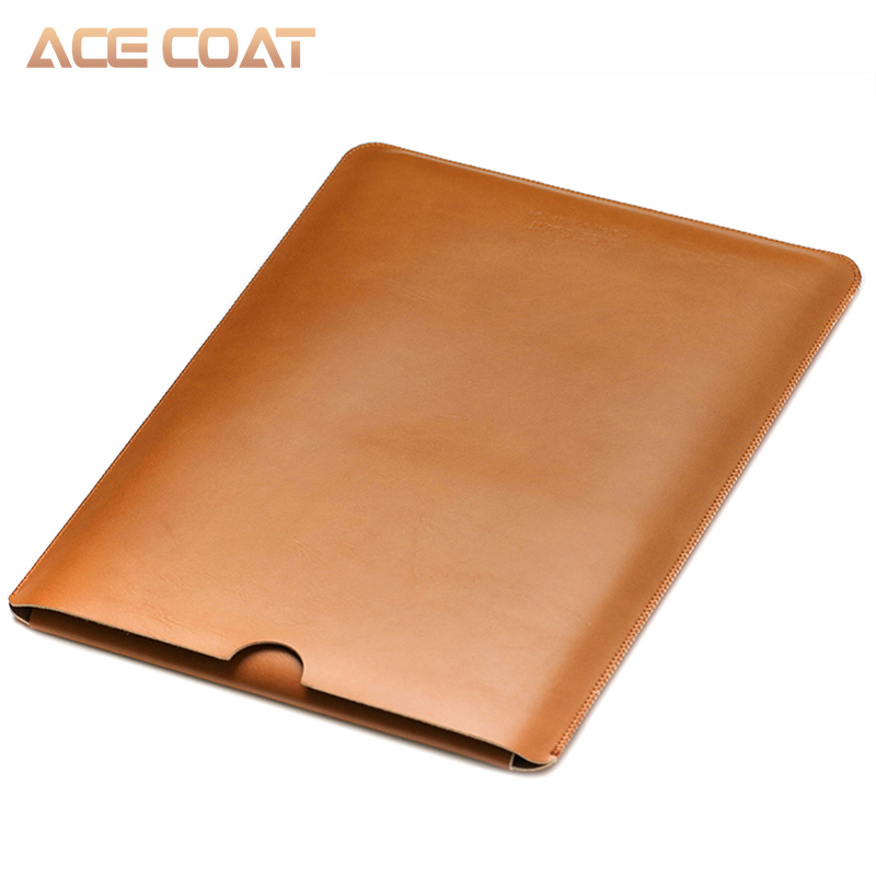 Image 4 - ACECOAT Microfiber PU Leather Sleeve Protector Bags for Macbook Air Pro Retina13 12 15 16 Laptop Sleeve Business No Zippercovers for maclaptop coverbag for macbook air -