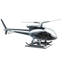 Solar Decoration Aromatherapy Helicopter Interior Accessories Gifts Zinc Alloy Automotive Figure Sunproof Supplies Car Ornament