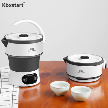 100-240V Electric Kettle Travel Portable Silicone Folding Kettle Home Automatic Power Off Insulation Kettle Used Globally