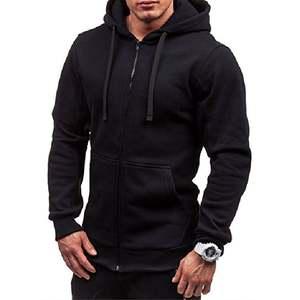 Hoodie Coat Cardigan Jacket Hooded-Sweatshirt Zip-Up Fleece Winter Classic Men's Warm