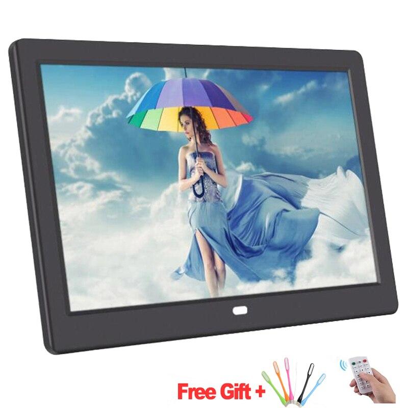 10-дюймовый экран, светодиодный HD подсветка 1024*600 цифровая фоторамка, электронный альбом для фотографий, музыка, фильмы, полная функция