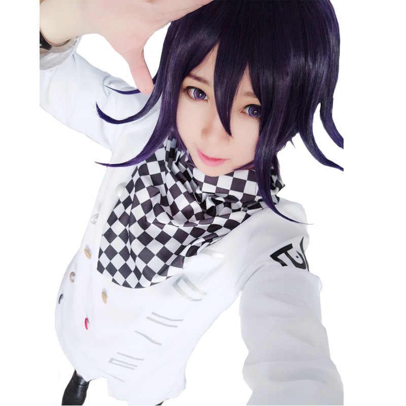 2020 danganronpa v3 ouma kokichi cosplay traje japonês jogo escola uniforme terno roupas sapatos halloween carnaval adereços