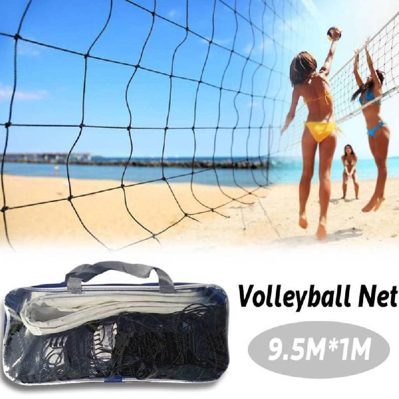 Volleyball Net For Practice Training Universal Style 9.5x1m Volleyball Net Polyethylene Material Beach Volleyball Net Outdoor