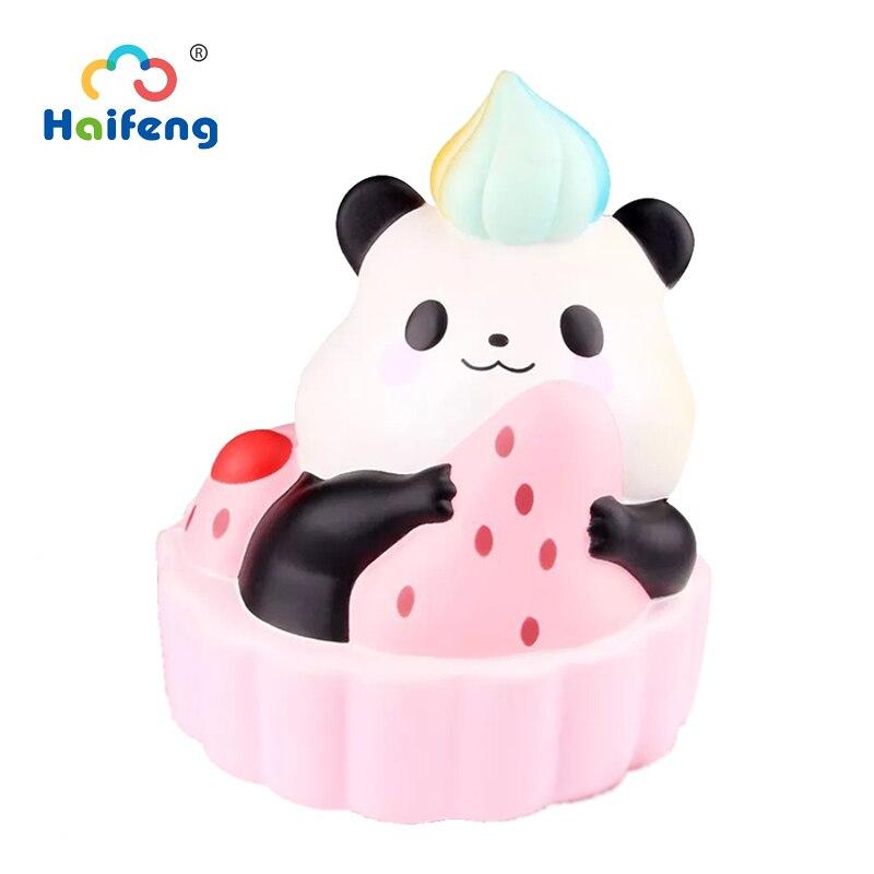 Slow Rising Squishyy Toys Cartoon Kawaii Animal Soft Panda Strawberry Tart Squeeze Relieve Stress Birthday Gift For Girl