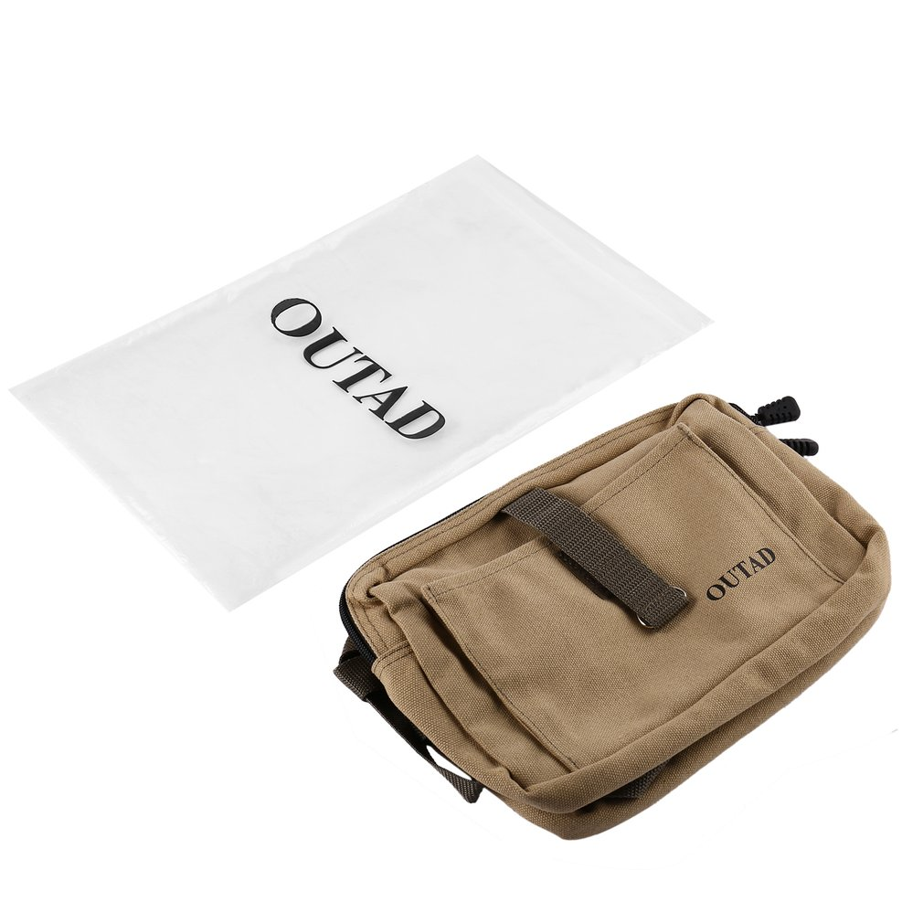 OUTAD Durable Soft Comfortable Dog Pack Harness Canvas Saddle Bag With Adjustable Strap For Outdoor Travel Training Camping