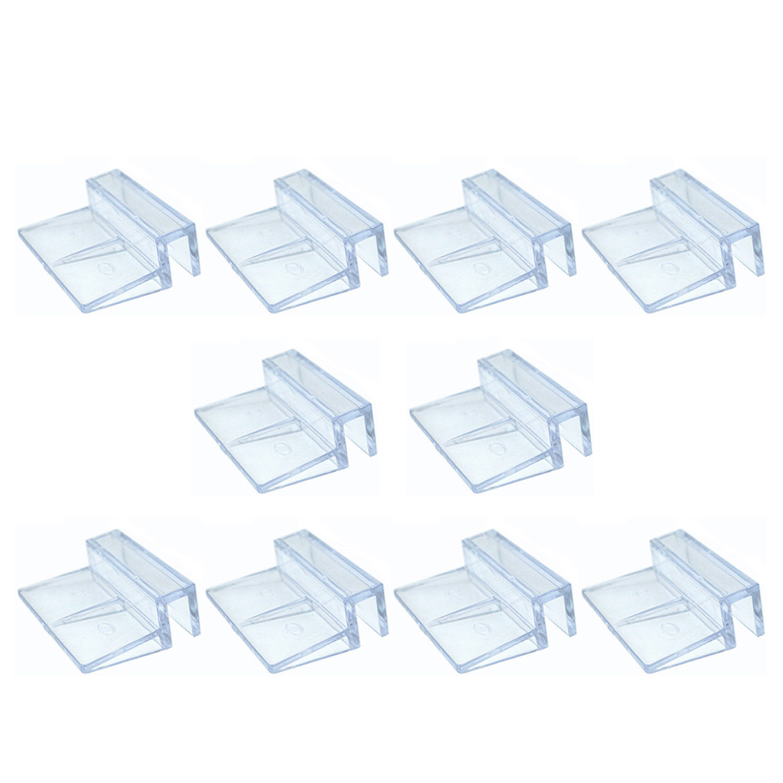 10pcs Pet Supplies Stand Home Support Holder Accessories Aquarium Clear 6/8/10/12mm Easy Install Glass Cover Clip Fish Tank