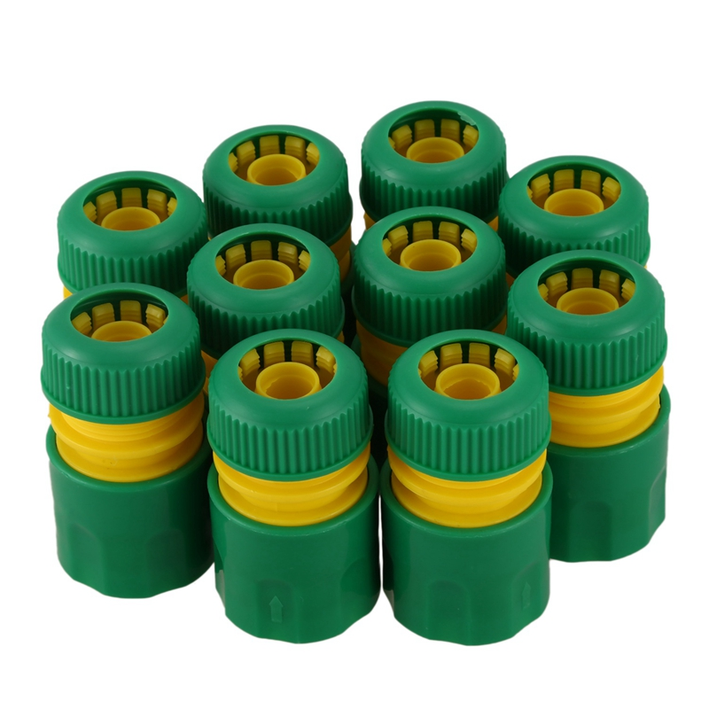 10Pcs <font><b>1/2</b></font> inch Hose Garden Tap Water Hose Pipe <font><b>Connector</b></font> <font><b>Quick</b></font> Connect Adapter Fitting Watering image